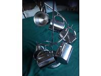 Metal mug tree and mugs.