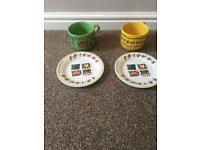 Large Friends mugs and side plates