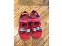 2 pairs Boys sandals size uk9