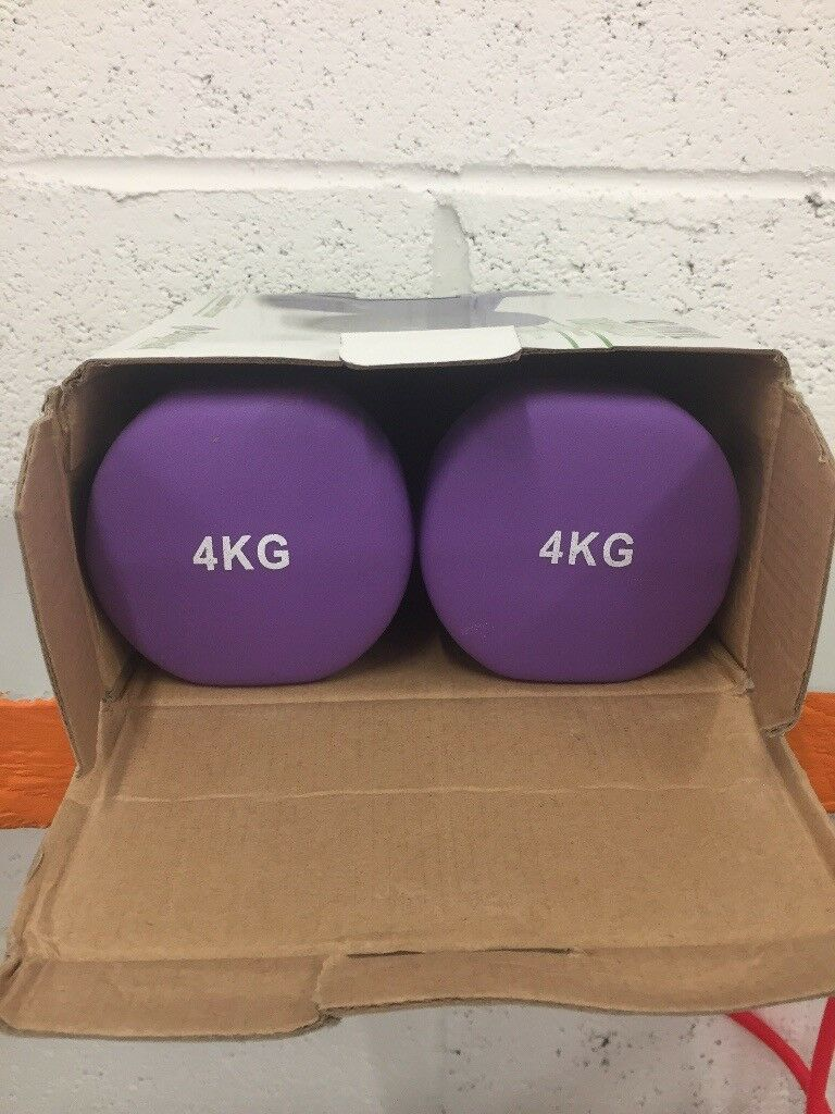 Pair of 4Kg Vinyl Dumbbells