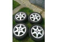 vw polo 15' bbs alloys and tyres
