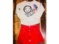 Girls skirt and jumper age 4-5
