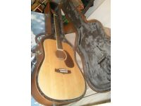 Tanglewood Nashville iv six string accousic plus fitted hard case