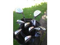 Set of ladies golf clubs