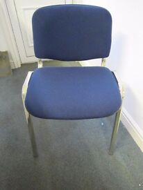 Office Visitor Chairs Conference etc in Royal Blue Stacking Set of 4