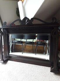 Antique vintage mahogany mirror