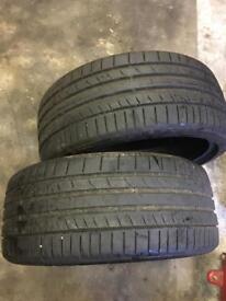 2 x 235-35-19 tires