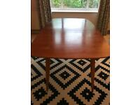 Beautiful handmade mid century bespoke Scandinavian style Dining Table