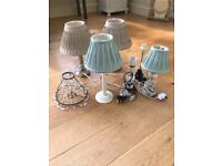 Laura Ashley lamps/shades/chandelier