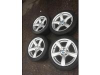 "Genuine bmw 17"" alloys and tyres z4 3 series"
