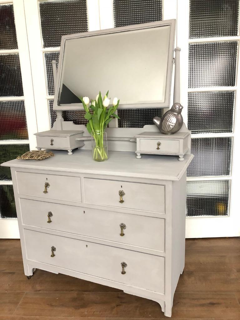 Vintage dressing table/chest Free Delivery Ldn🇬🇧solid oak