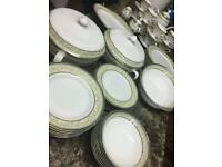 61 piece tea and dinner set