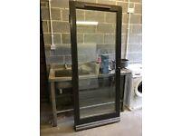 Wood and double glazed external door