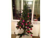 3ft Christmas tree and burballs