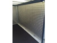 Indespension Tow a Van Twin Axle Box Trailer - aluminium checker plate lined, great condition.