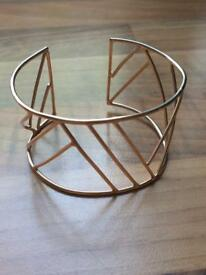 John Lewis Copper Colour Metal Wide Cuff Bracelet Bangle New