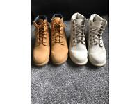 2x size 5 timberlands tan +off white