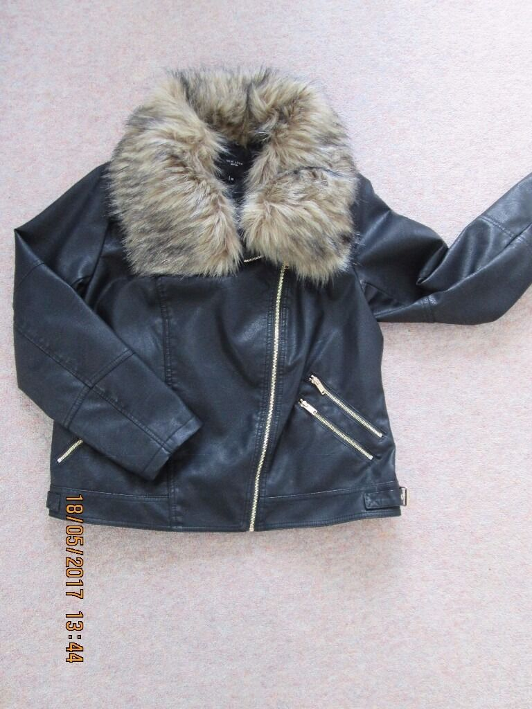 Leather jacket size 18 - New Look Faux Laether Jacket Size 18