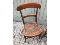 Pair of matching vintage bedroom chairs