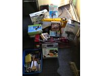 Wood craft lathe and scroll saw and others