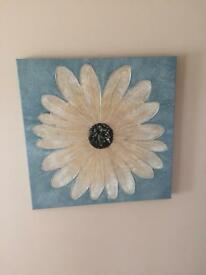 Blue flower canvas from next