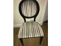 French oval back chair