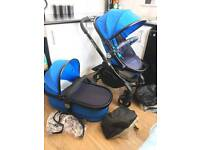 Icandy peach 3 cobalt blue all extras