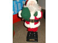 singing father christmas boxed