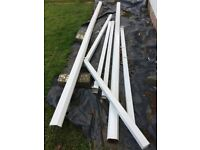 White UPVC Guttering - Good as New
