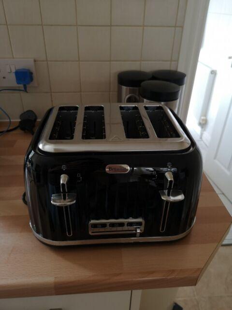 4c18d31d2c82 Breville VTT476 Impressions 4 Slice Toaster - Black | Like New | £20 ...