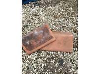 Edwardian red clay ridge tiles x 36