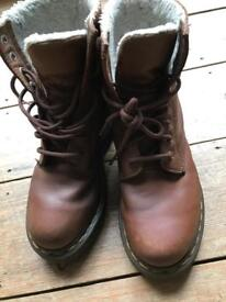 Doc Martin fur lined boots