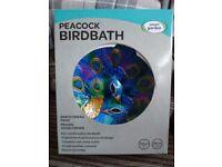 Peacock Bird Bath.