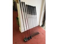 Full set Ping Karsten irons, ping G20 driver and ping G15 5 and 3 woods for sale.