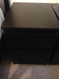 Small chest of drawers (black) - IKEA brand, used but assembled