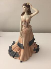Genuine Coalport Age of Elegance Regency Gala doll. Limited edition