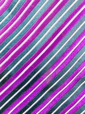 Charvet made in france violet bleu foncé rayure cravate soie cravate hjl0520
