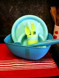 Salad Bowl & plates ,cups,cutlery