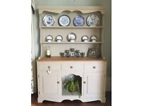 Stunning Solid Pine Welsh Dresser, Sideboard, Kitchen Cupboard - Painted in Anne Sloan (Shabby Chic)