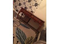 Large vintage end table/ dressing table