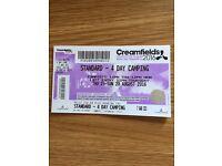 Cream fields weekend camping ticket £200