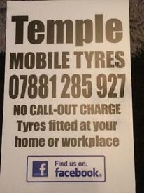 Mobile tyre service (no call out charge)