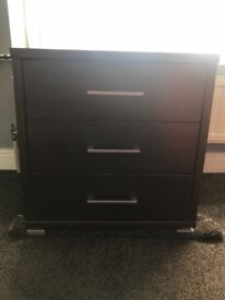 Chest drawer with matching side tables