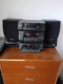 5 CD change and tape player
