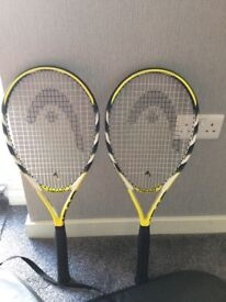 2 x Head tennis racquets