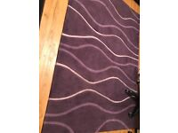 Heavy Purple Rug 230cm by 160cm Layla. Derby area. Good used condition.