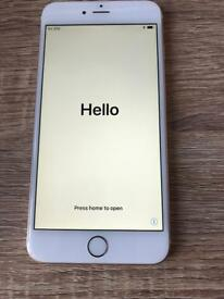 iPhone 6 Plus. Gold unlocked with multiple cases