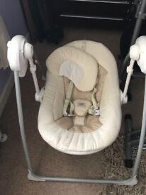 Cream vib swing/chair