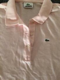 Lacoste size 40 ladies polo top