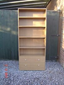 Bookshelves / Display Unit / Bookcase. With Five Shelves and Two Drawers. Can Deliver.